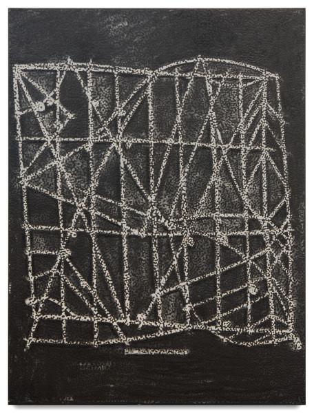 Daniel Boyd Untitled (TBD), 2015; oil & archival glue on linen; 183 x 137.5 cm; enquire