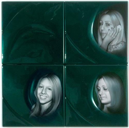 Patricia Piccinini KARENS, 2002; ABS plastic and automotive paint; 100 x 100 x 5 cm; enquire