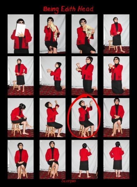 Tracey Moffatt Being Edith Head, 2005; colour print on Fujiflex paper; 58 x 43 cm; Edition of 10; Enquire