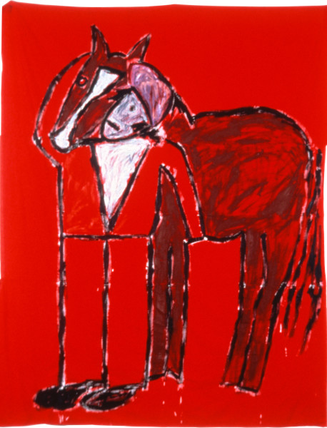 Jenny Watson The Simple Man (Passion), 1983; oil on fabric; 305 x 198 cm; enquire