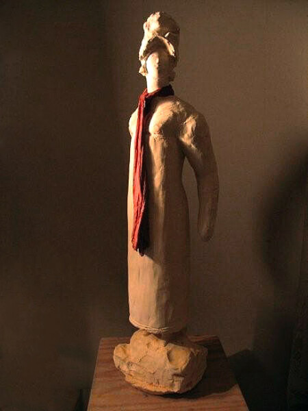 Linda Marrinon Empire Lass, 2008; tinted plaster; 78 x 20 x 15 cm; enquire