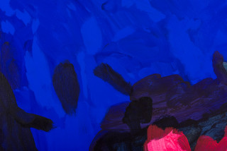 Tom Polo escape the night (anyone but here) (detail), 2021; acrylic and Flashe on canvas; 2 parts, 182 x 276 cm; enquire