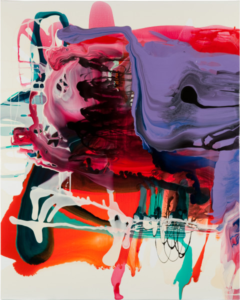 Dale Frank Quercus Canariensis Keyhole Quentin, 2011; varnish on canvas; 160 x 200 cm; enquire