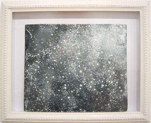 Hany Armanious Wall rubbing # 6, 2003; clogged sandpaper; 23 x 28 cm; (paper size) 34 x 41.5 cm (frame size); enquire