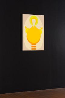 installation view; Mikala Dwyer Vertical Bird, 2021; acrylic on canvas; 91 x 60.5 cm; enquire