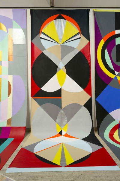 Mikala Dwyer Backdrop for Rounders, 2016; acrylic on canvas; 600 x 220 cm; enquire