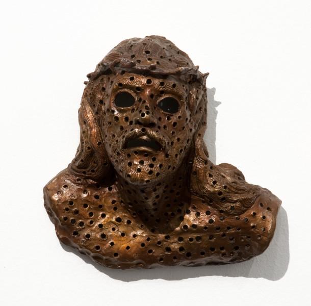 Daniel Boyd Jesus Christ!, 2010; bronze; 25 x 25 x 14 cm; enquire