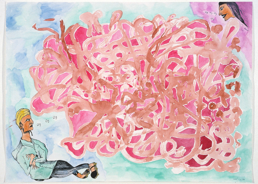 Gareth Sansom Love, 1989; watercolour and ink on paper; 56 x 76 cm; enquire