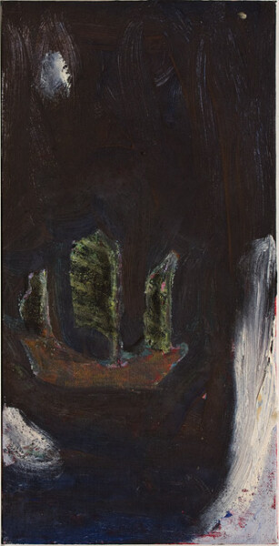Tony Clark Panel from Chinoiserie Screen, 1988; oil on canvas board; 40.5 x 20.5 cm; enquire