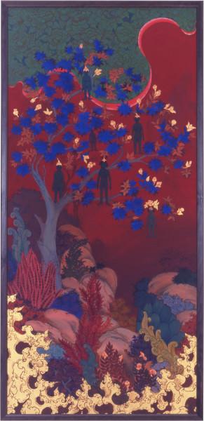 Phaptawan Suwannakudt Nariphon I, 1996; acrylic on silk; 165 x 80 cm; enquire