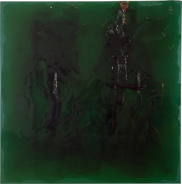 Dale Frank The Green Dead Slut Painting — Troy, 1996; varnish on acrylic on linen; 200 x 200 cm; enquire