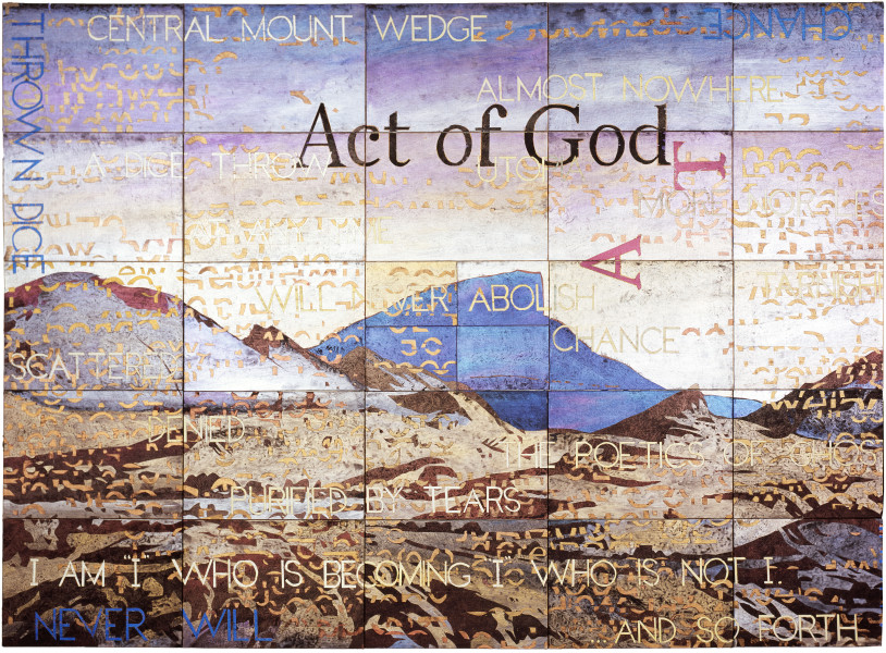 Imants Tillers Act of God, 2008; acrylic, gouache on 28 canvasboards nos. 83115 - 83142; 127 x 178 cm; enquire