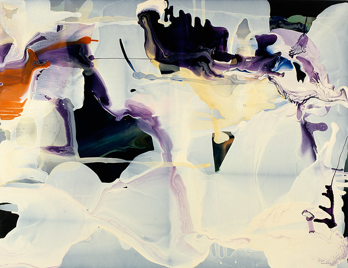 Dale Frank Everyone else looked eighteen, 2010; varnish on canvas; 200 x 260 cm; enquire