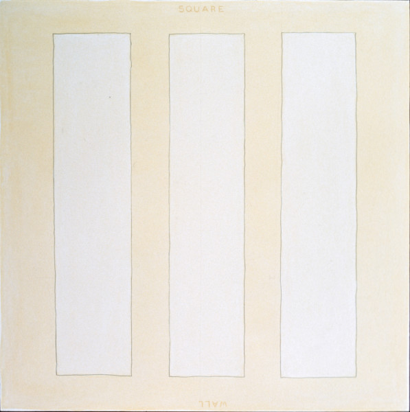 David Tremlett Square Wall, 1988; pastel on paper; 110 x 110 cm; enquire
