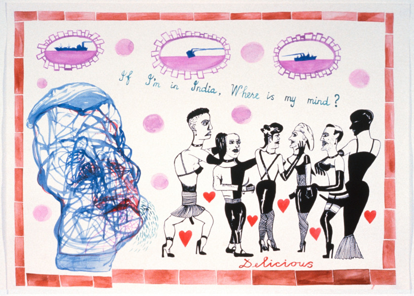 Gareth Sansom Delicious, 1989; watercolour and ink on paper; 56 x 76 cm; enquire
