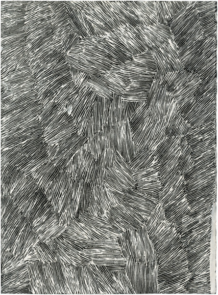 Nyapanyapa Yunupingu Untitled, 2016; 4929W; earth pigments on paper; 76 x 57 cm; enquire
