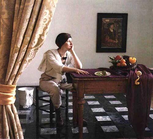 Anne Zahalka The Cleaner (Marianne Redpath/performance artist), 1987; Ilfochrome print; 80 x 80 cm; Edition of 10; enquire