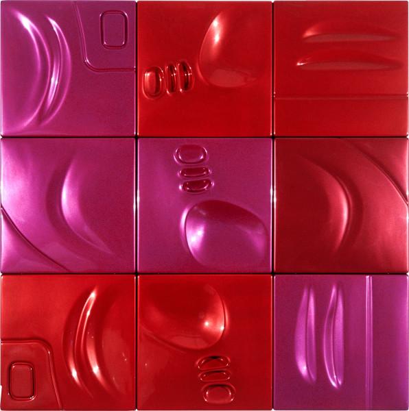 Patricia Piccinini Spunky, 2002; ABS plastic and automotive paint; 150 x 150 x 5 cm; 9 panels; enquire