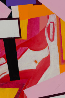 Gareth Sansom Construction (detail), 2020; oil and enamel on linen; 152 x 122 cm; enquire