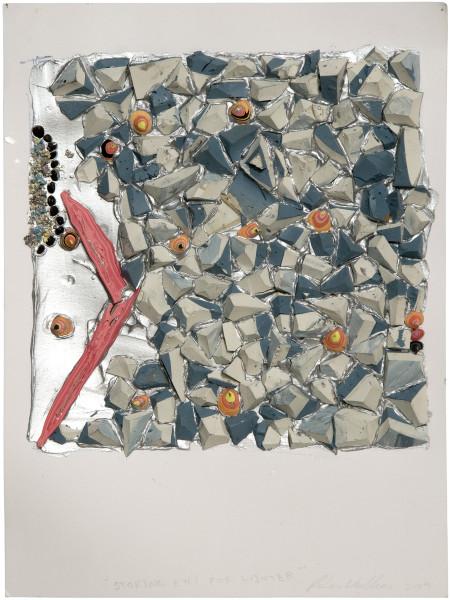 Rohan Wealleans Storing eyes for winter, 2009; Paint on paper; 40 x 32.5 x 5.5 cm; Paper size: 30 x 23cm; enquire