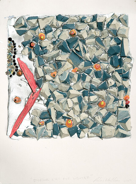 Rohan Wealleans Storing eyes for winter, 2009; Paint on paper; 40 x 32.5 x 5.5 cm; Paper size: 30 x 23cm; enquire