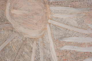 Nyapanyapa Yunupingu Stars (detail), 2020; 4119-20; natural earth pigments on board; 244 x 244 cm; enquire