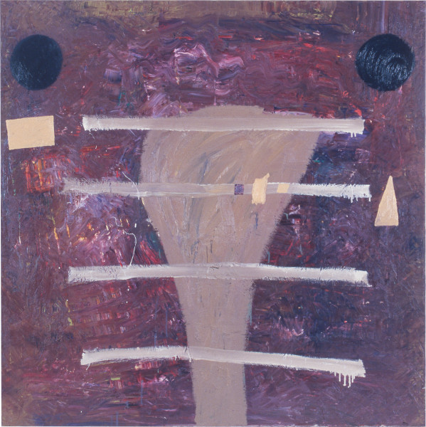 Gareth Sansom The Deanship, 1986; oil on canvas; 137 x 137 cm; enquire