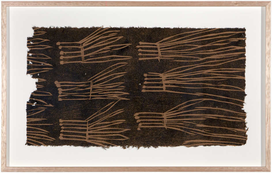 Mulkun Wirrpanda Rakay #3, 2015; relief print on stringybark paper; Edition of 30; enquire