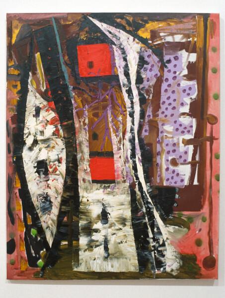 Gareth Sansom Emblems, 1990; mixed media on cotton duck; 76 x 61 cm; enquire