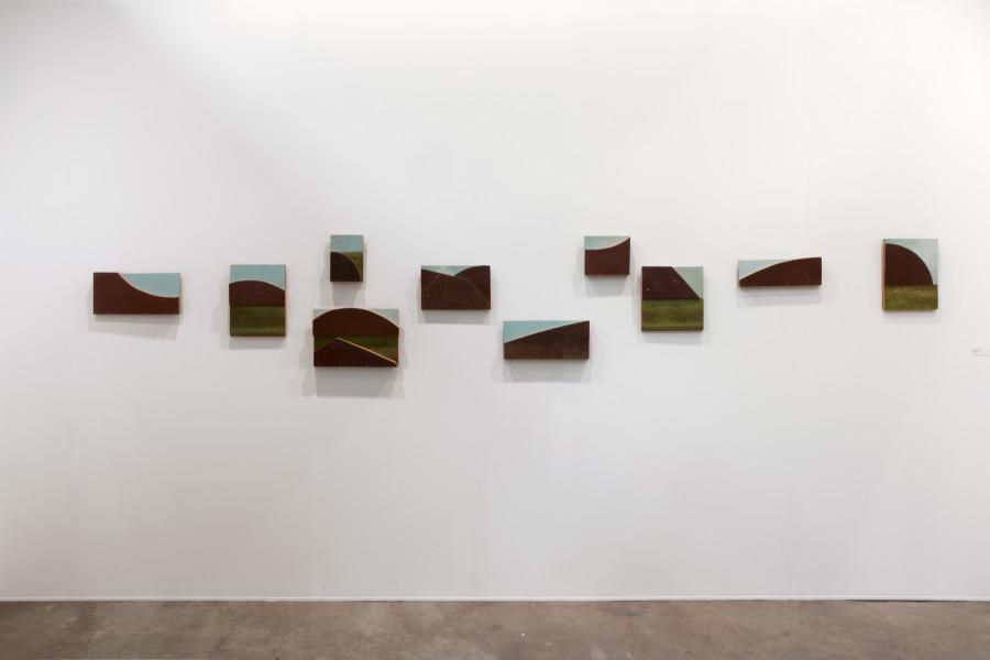 Rosalie Gascoigne Skylark, 1994-95; sawn wood on wood; 64 x 418 cm; 10 panels; enquire