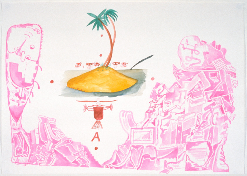 Gareth Sansom Dreaming, 1989; watercolour on paper; 56 x 76 cm; enquire