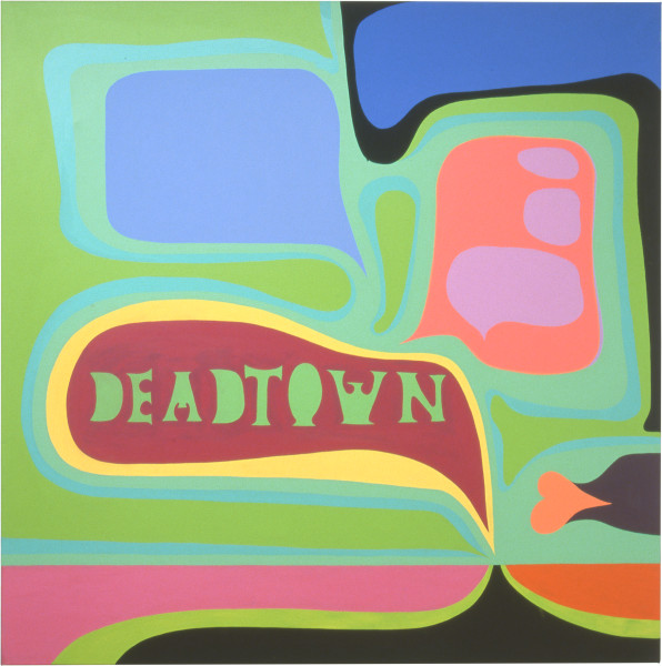 Dale Frank Fishtricted Vocabulary, 2001; from the series Cat #14; acrylic on canvas; 200 x 200 cm; enquire