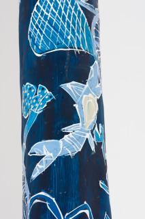 Dhambit Munuŋgurr Djapu Design (Dhambit Larrakitj) (detail), 2020; 2329-20; acrylic on eucalyptus; 370 x 50 x 40 cm; enquire