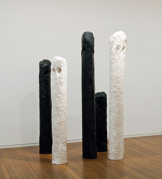 Mikala Dwyer I maybe we, 2005; fibreglass; 5 pieces, overall dimensions: 222 x 29 x 16cm; enquire