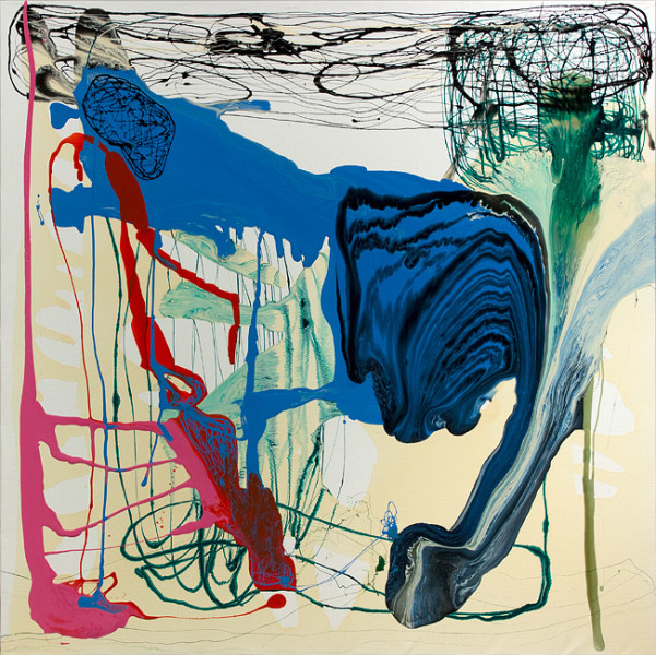 Dale Frank She puffed on Alpine Menthol, 2012; varnish on canvas; 200 x 200 cm; enquire