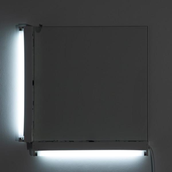 Bill Culbert Light out square pane, 2009; glass, fluorescent lights; 70 x 70 x 10 cm; enquire