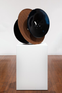 James Angus Cast Iron Inversion (Black), 2012; from a series of 5 colours; cast iron, enamel paint; 80 x 80 x 50 cm; 45kg; Enquire