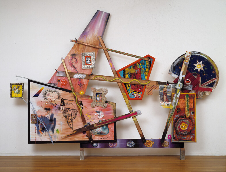Juan Davila Madi, 1991; oil, enamel and collage on wood and canvas; 282 x 434 cm; enquire