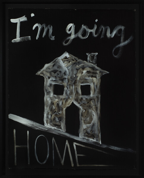 Nell I'm going HOME, 2017; acrylic on linen; 99.5 x 80.5 cm; enquire
