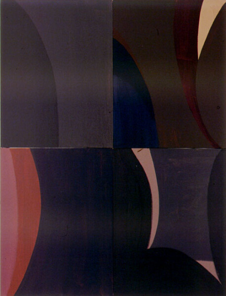 Tony Clark Lontano XXIX, 2000; from the series Lontano; Acrylic on canvas board; 122 x 91.5 cm; 4 panels; enquire