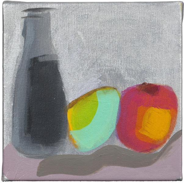 Angela Brennan Lovers, 2009; oil on linen; 20.5 x 20.5 cm; enquire