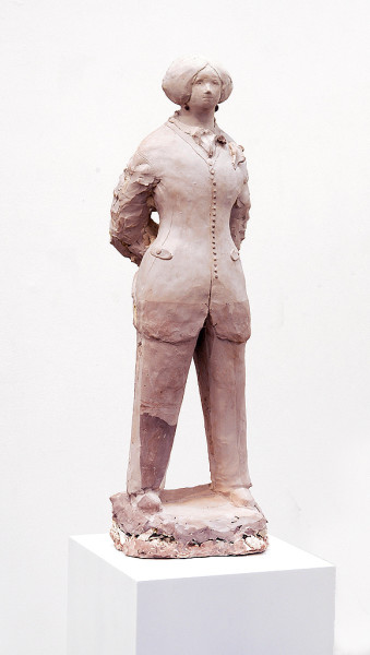 Linda Marrinon George Sand dressed as a man, 2006; from the series Exhibited in 'Stolen Ritual', 2006; tinted plaster; 71.5 x 25 x 18 cm; enquire