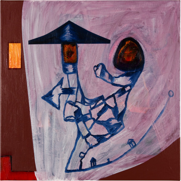 Gareth Sansom Chinese Dada, 2012; oil and enamel on linen; 60 x 60 cm; enquire