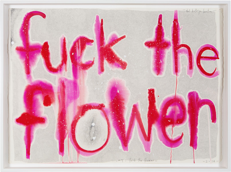 Del Kathryn Barton may i fuck the flower, 2014; gouache and ink on hot pressed paper; 60.5 x 82 cm; enquire