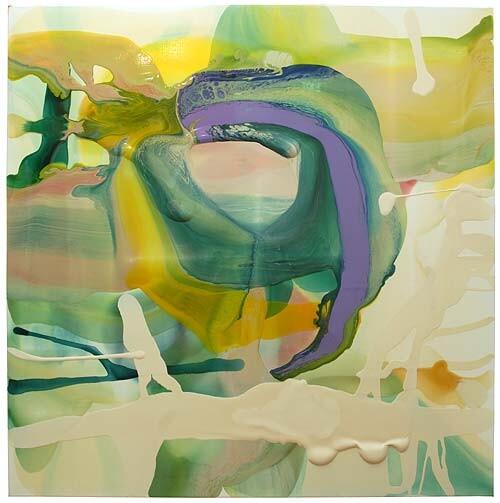 Dale Frank Ultraism Brachypterous Brain Scan Dead Ringer, 2007; varnish on canvas; 200 x 200 cm; enquire