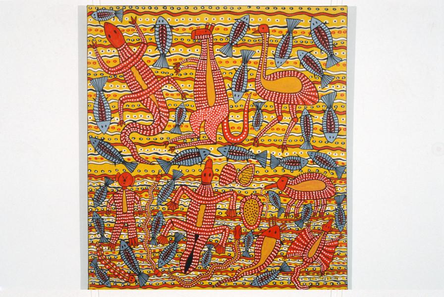Robert Campbell Jnr Tucker, 1989; acrylic on canvas; 122 x 109 cm; enquire