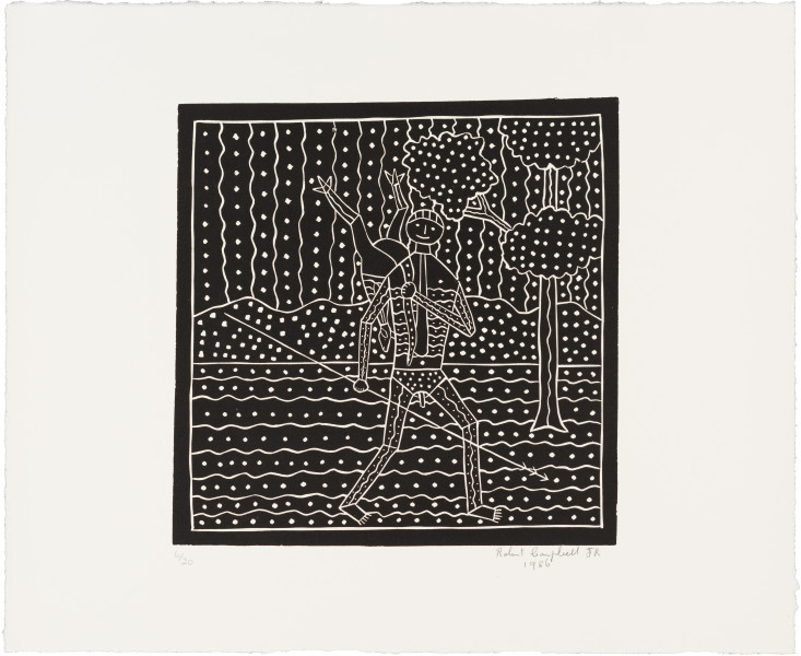 Robert Campbell Jnr The Hunter, 1986; 38.5 x 44.5 cm; enquire