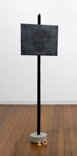 Mikala Dwyer 20, 2009; wood, concrete, chalk; 161 x 48 x 21 cm; enquire