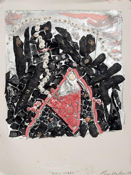 Rohan Wealleans Black Heart, 2009; Paint on paper; 61 x 48 x 5.5 cm; Paper size: 51 x 38cm; enquire