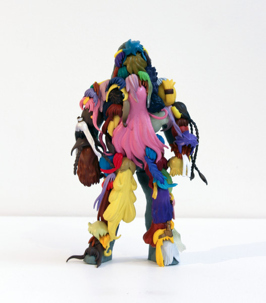 Teppei Kaneuji Teenage Fan Club #43, 2011; plastic figures, hot melt glue  ; 16.7 x 10.5 x 4.7 cm; enquire